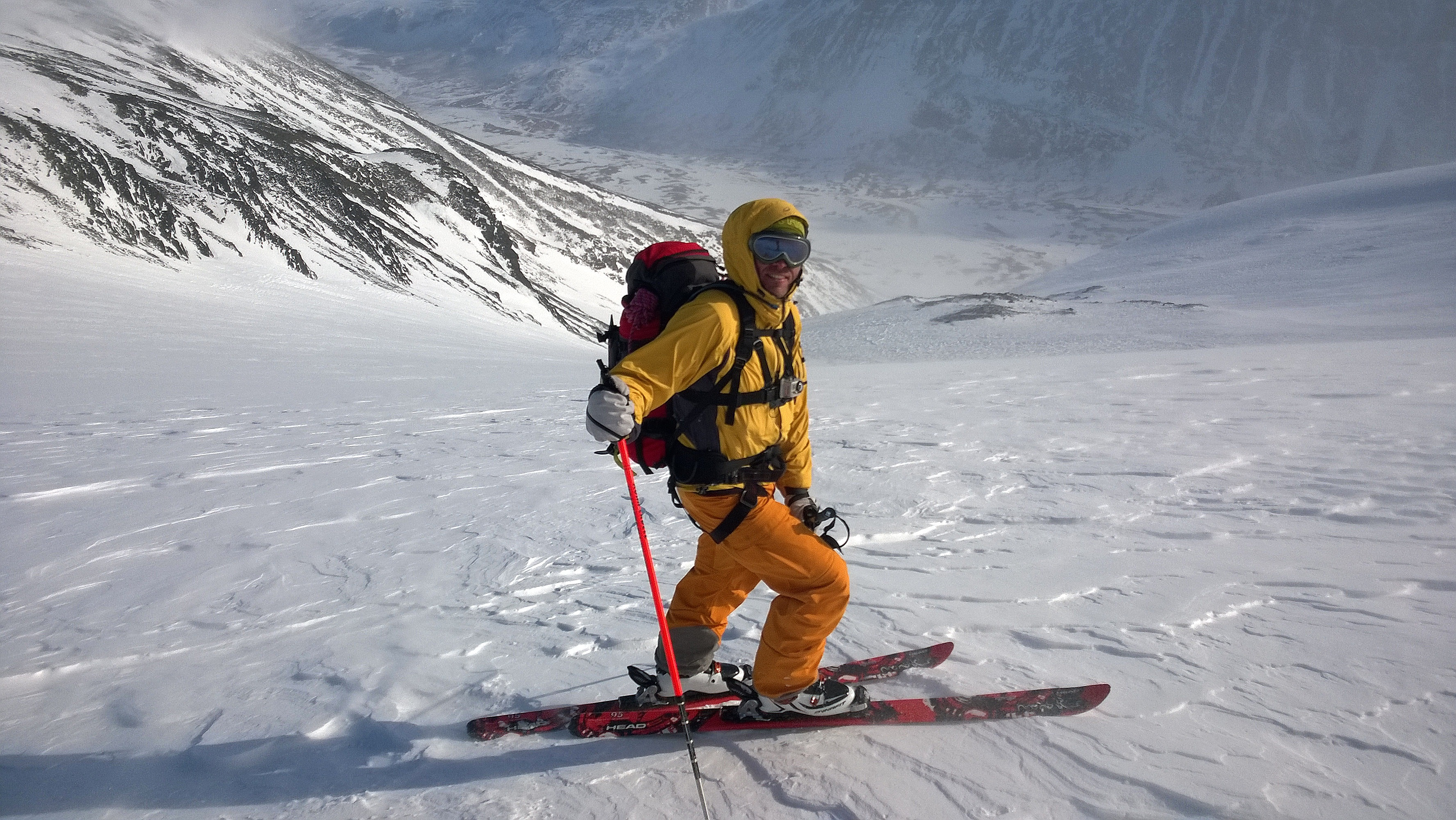 Alpine ski mountaineering!