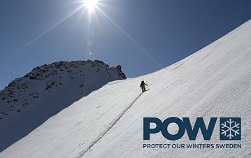Protect Our Winters Sweden stöds av Husstainability genom fundraising och försäljning