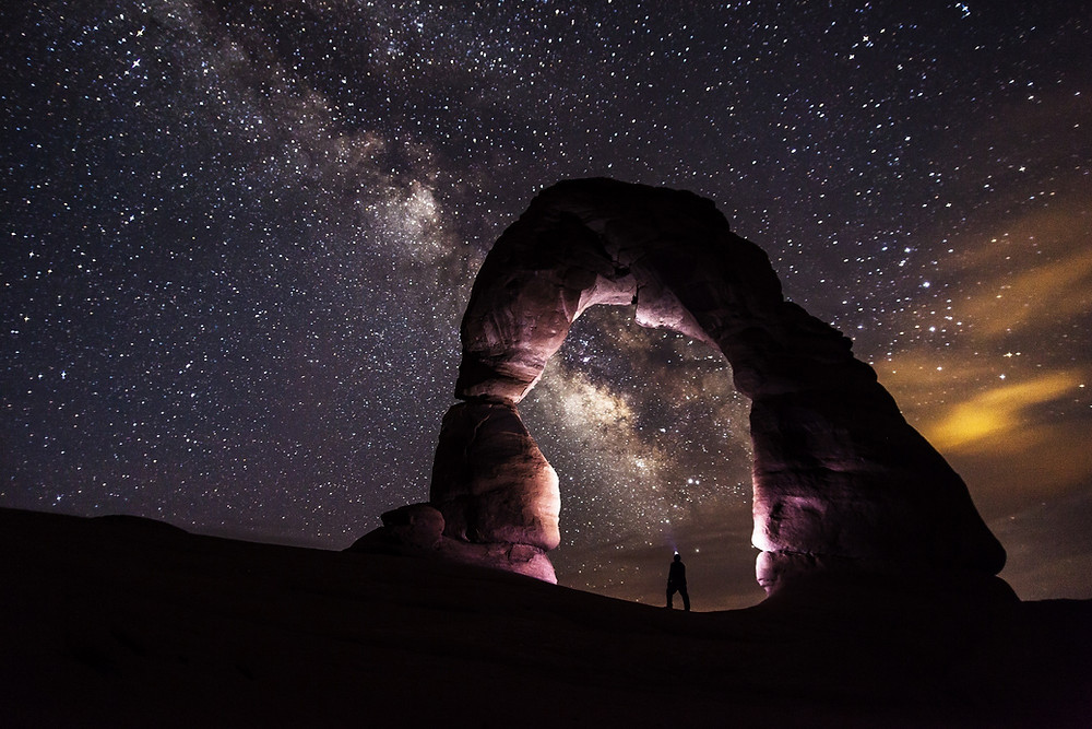 Utah sandstone arch
