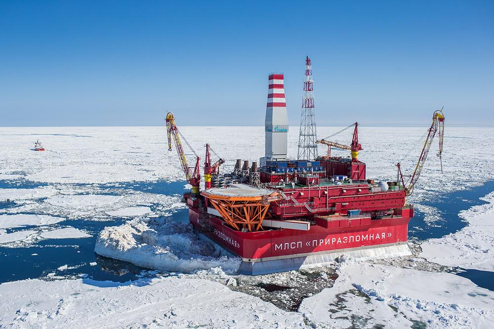 Rysk oljeplattform i Arktis