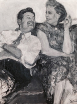 reminisce 36 x 50 Acrylic, graphite, charcoal on canvas