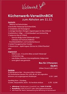 Menüplan VerwöhnBox 11.12.. Küchenwerkpng