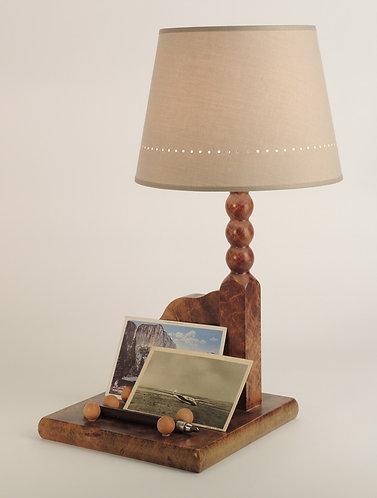Lampe de chevet à poser Plumier vintage avec abat-jour.