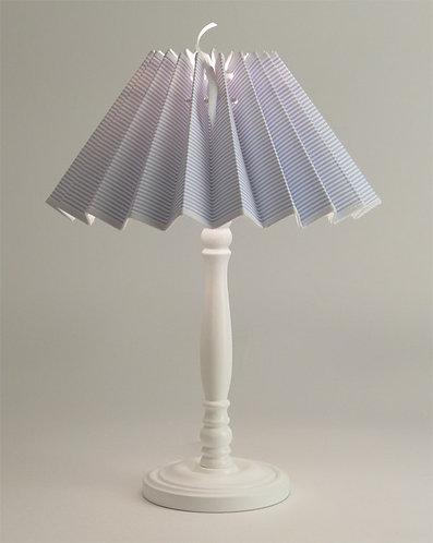 Pied de lampe Colibri avec Abat-jour Petites Rayures Bleu.