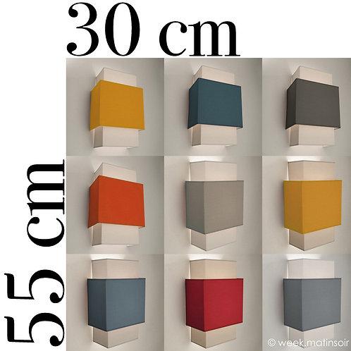 Applique murale Double-Carré  30 x 55 cm