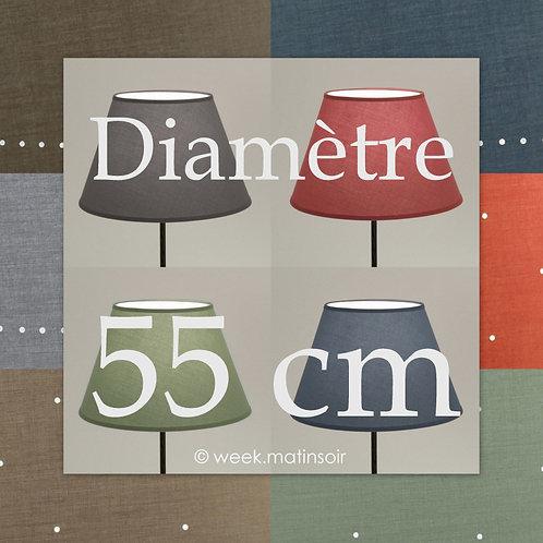 Abat-jour forme Empire 55 cm
