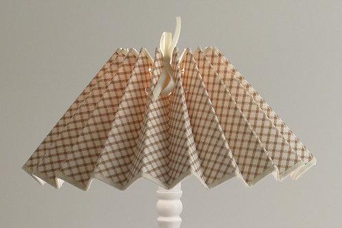 Abat-jour plissé tissu Croisillons.