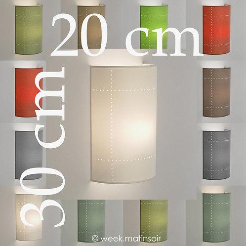 Applique murale demi-lune tissu 80 coloris 20 cm.