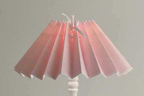 Abat-jour plissé Petites Rayures rose