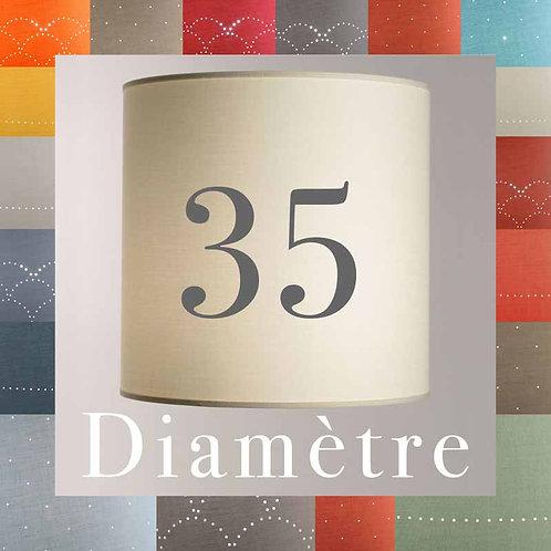 abat-jour cylindrique tambour diamètre 35 cm