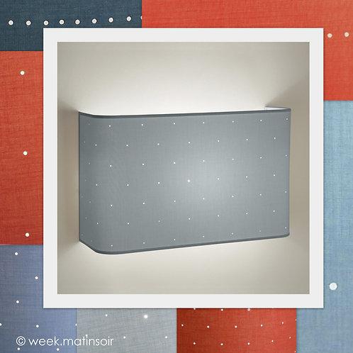 Applique murale large design angles arrondis 80 couleurs.