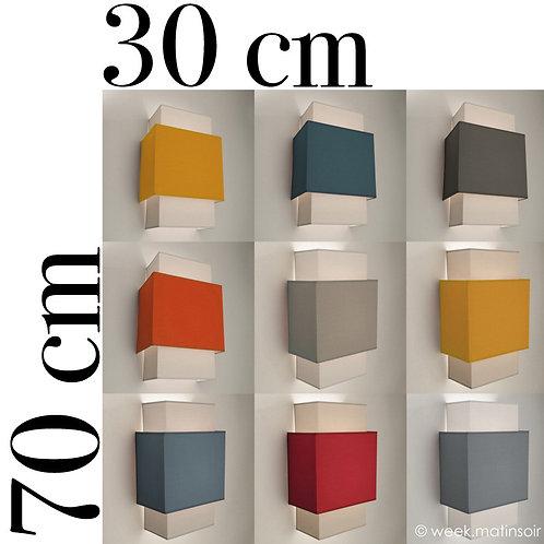 Applique murale Double-Carré  30 x 70 cm