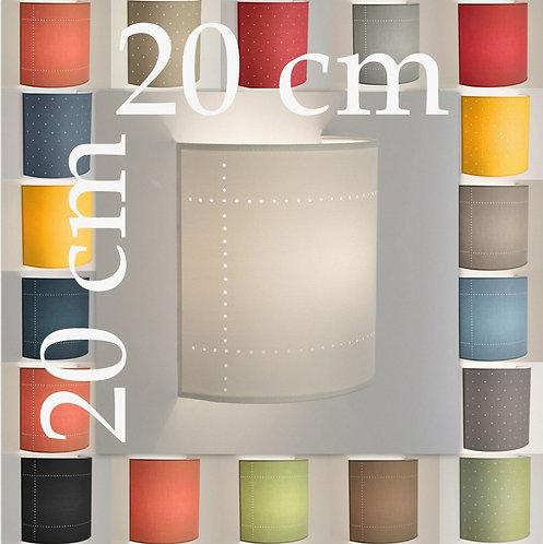Applique murale demi-cylindre tissu 80 coloris 20 cm.