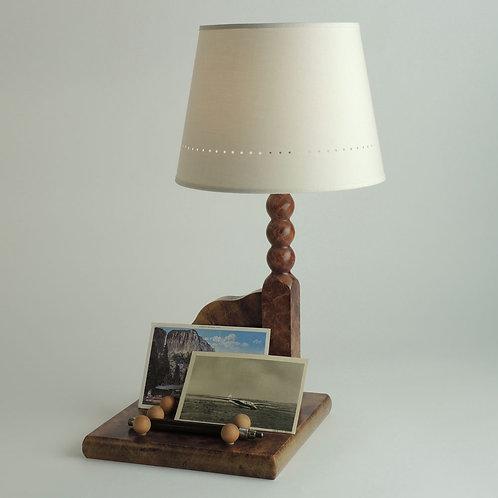 Lampe Plumier, avec abat-jour Américain.