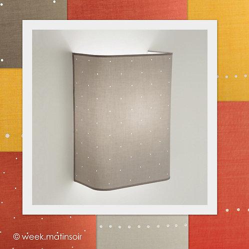 Applique murale haute design angles arrondis tissus 80 coloris.