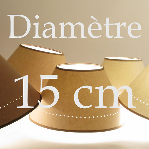 abat-jour conique diamètre 15 cm