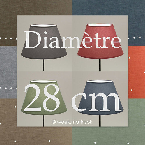 Abat-jour forme Empire 28 cm