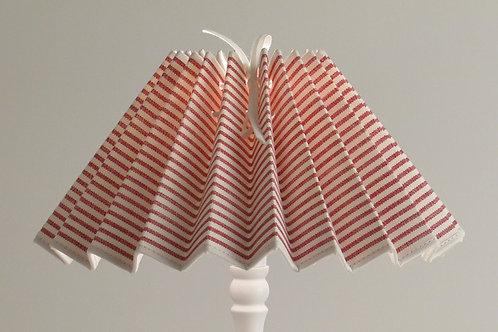 Abat-jour plissé Rayure rouge plage