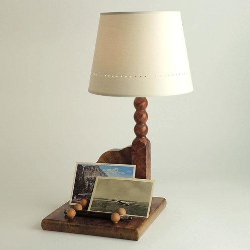 Lampe Plumier avec abat-jour Américain diamètre 23 cm