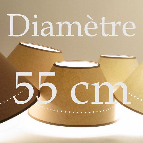 abat-jour conique diamètre 55 cm