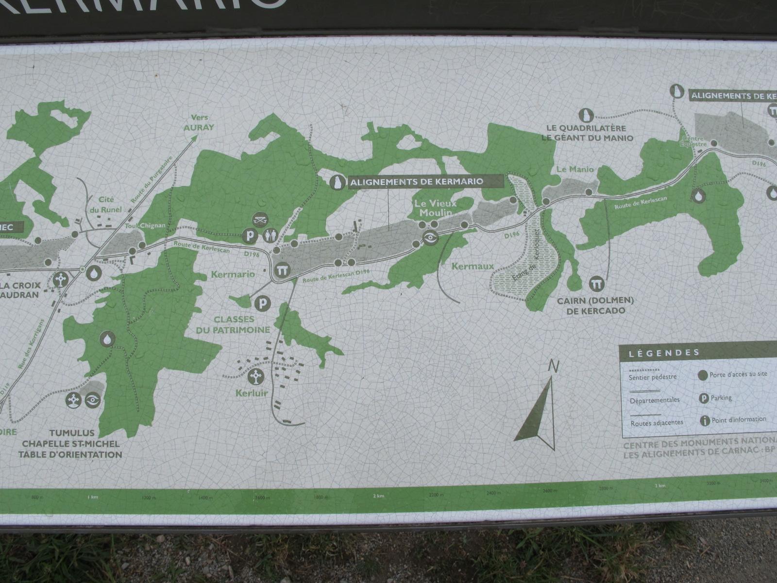 Carnac Karte
