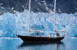 Forschungschiff Novara/Spitzbergen