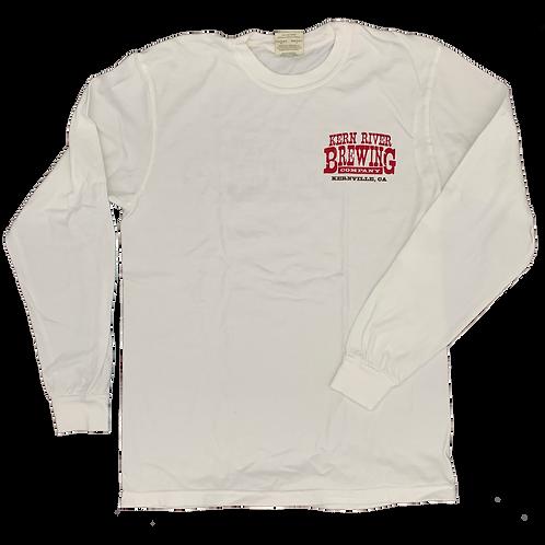 White Long Sleeve Logo