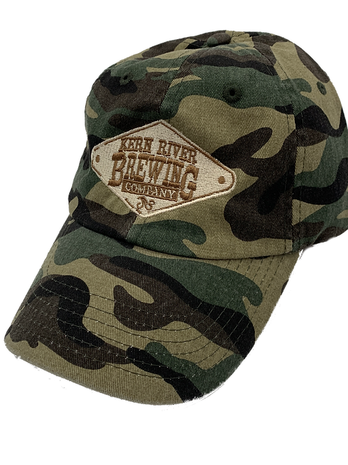 Camo embroidered dad hat