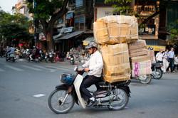 Overloaded Motorcycle