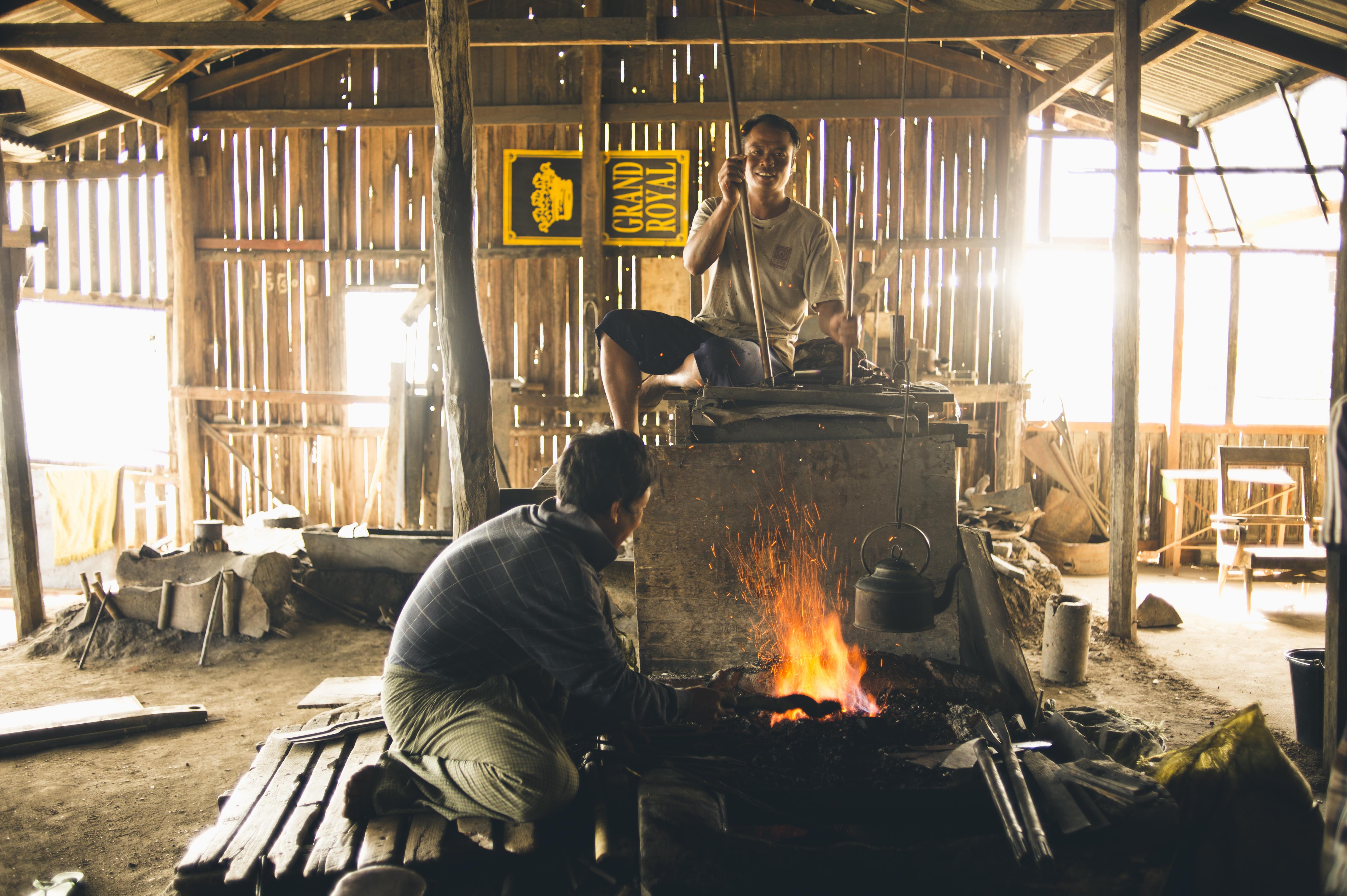 Inle Lake blacksmith