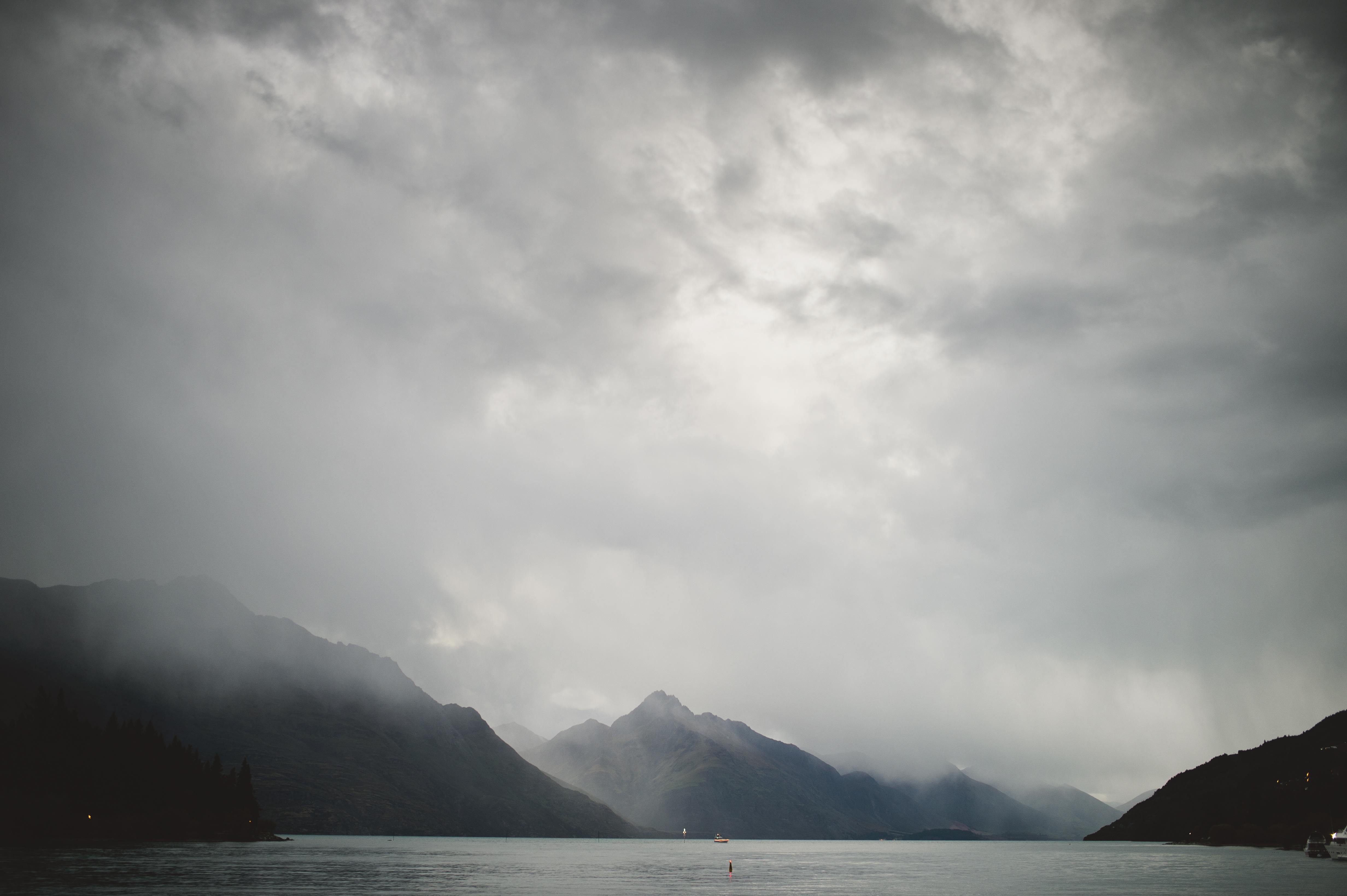 Queenstown Foggy Lake Wakatipu