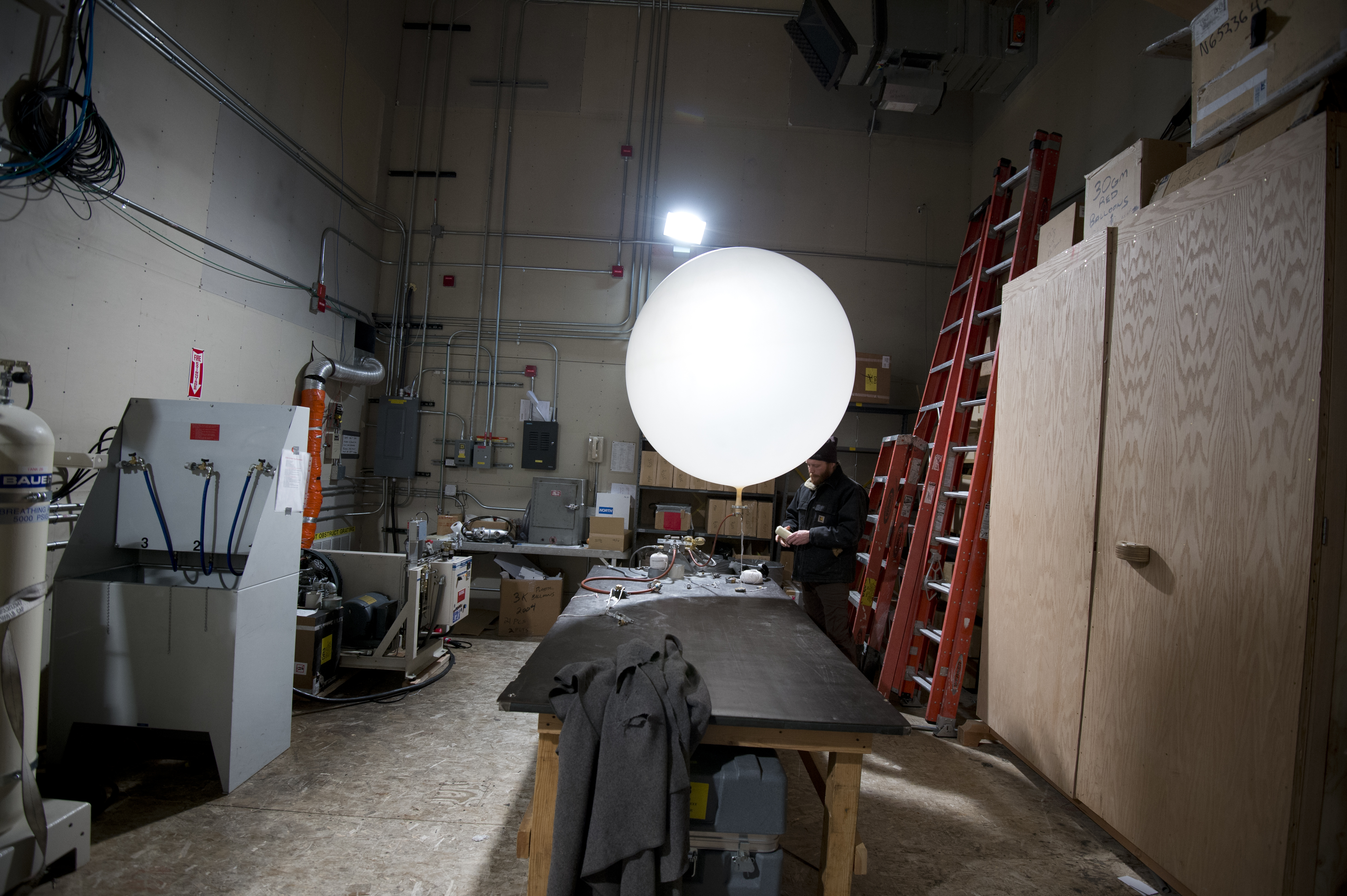South Pole Weather Balloon