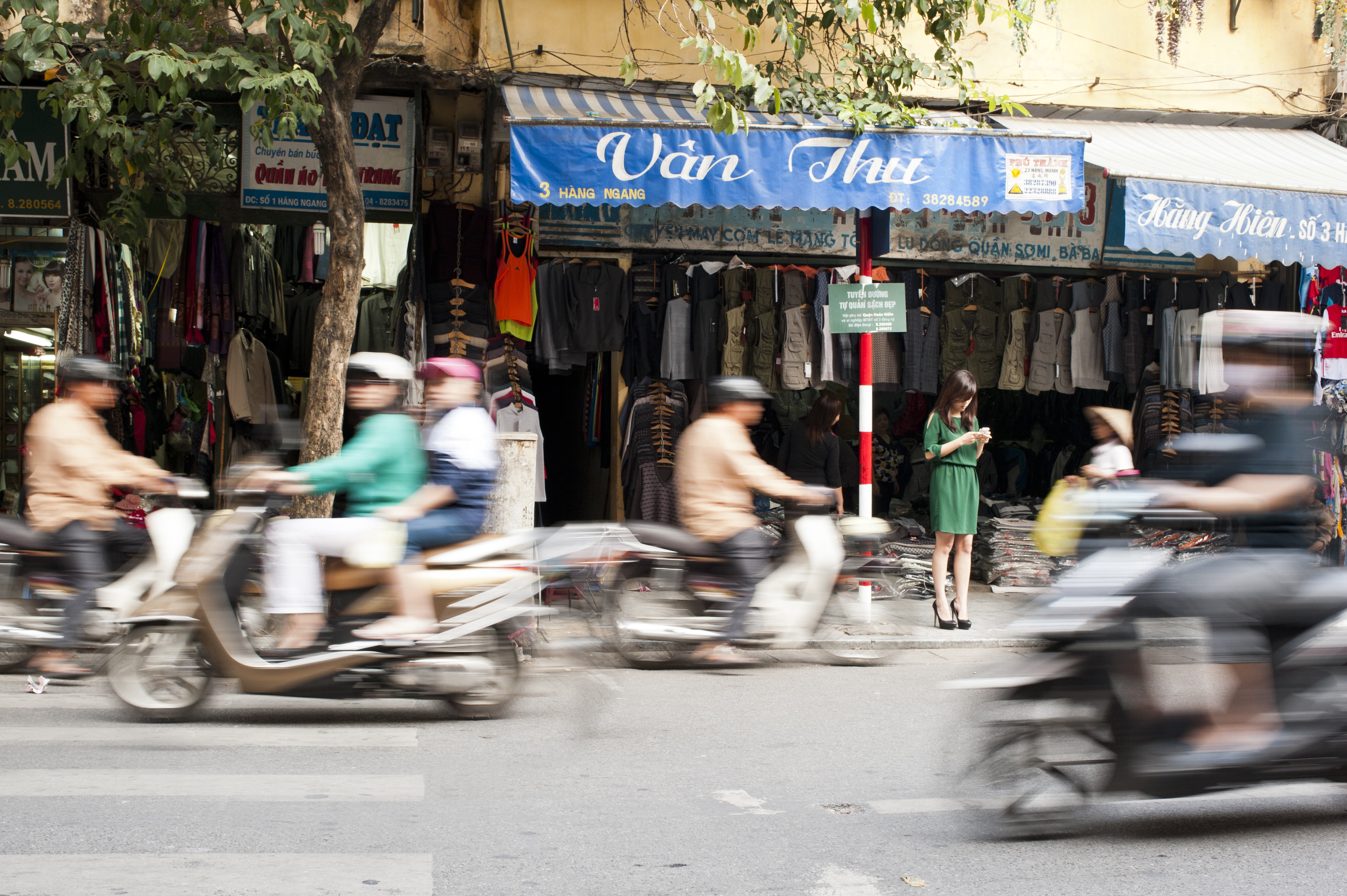 Distracted in Hanoi