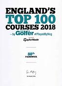 England Top 100 Golf Courses