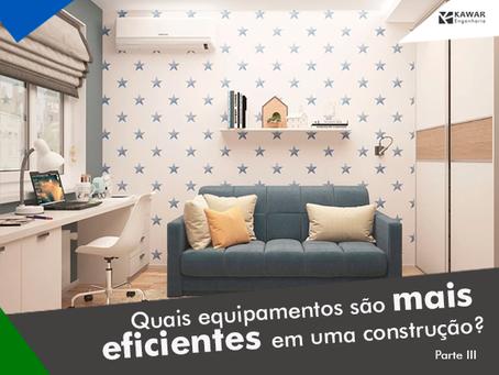 Quais equipamentos são mais eficientes em uma construção?