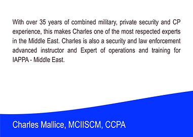 Charles mallice - Executive Director of the International Association of Personal Protection Agents