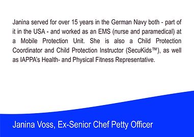 Janina Voss - Expert at the International Association of Personal Protection Agents