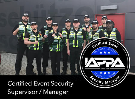 Certified Event Security Supervisor / Manager
