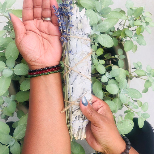 Sage & Lavender Smudge Stick (7-9in)