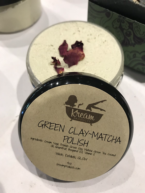 Green Tea/CLAY FACIAL POLISH