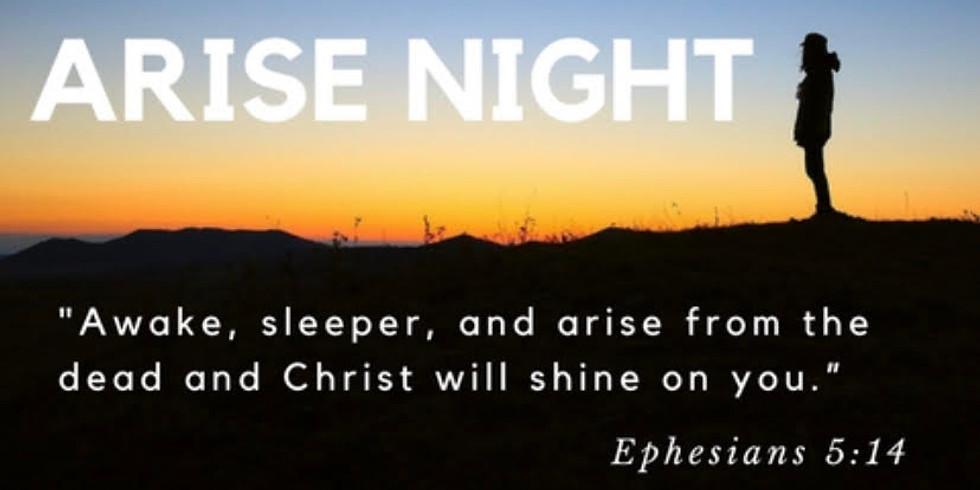 Arise Night, March 25, 6:30 PM, St. John the Evangelist in Jeanerette
