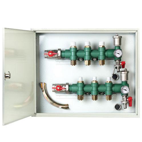 Colector piso Radiante para 3 circuitos