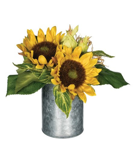 SUNFLOWER BASED METAL VASE DISPLAY