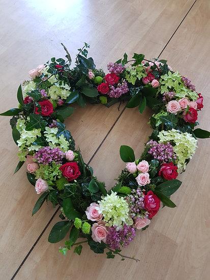 LOOSE SPRAY ROSE AND VIBURNUM HEART