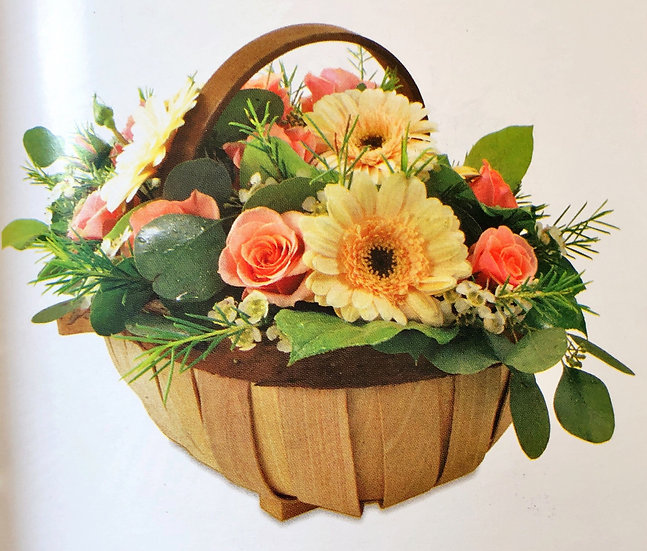 Rustic basket arrangement