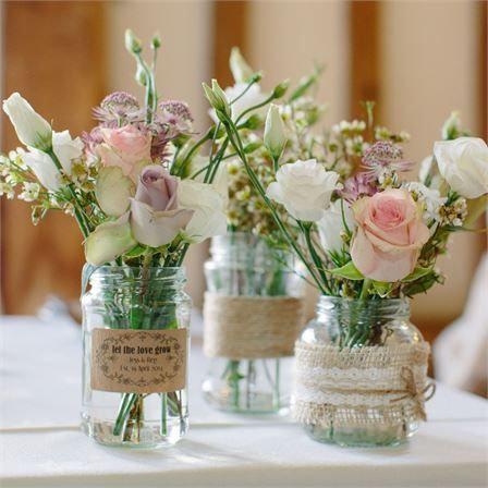 Rose, Lisianthus and Gypsophila Jar