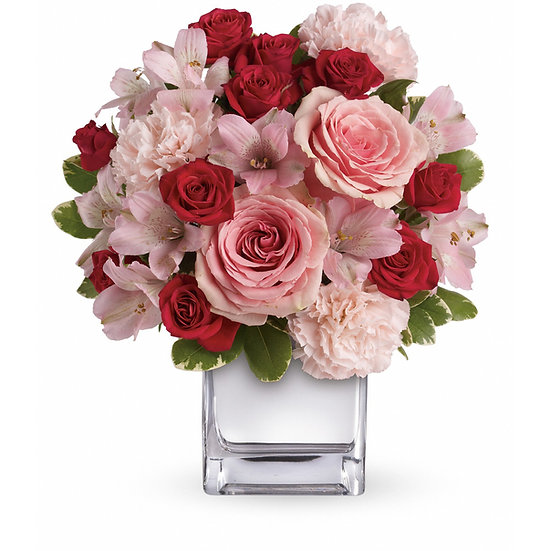 Rose, Alstroemeria & Carnation Arrangement