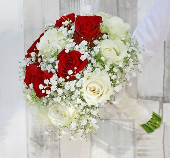 LOOSE ROSE RING EFFECT BRIDAL POSY