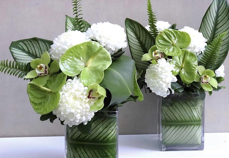 Anthurium, Carnation & Orchid Arrangement
