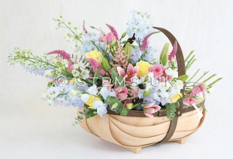 Pretty Garden Trug Arrangement